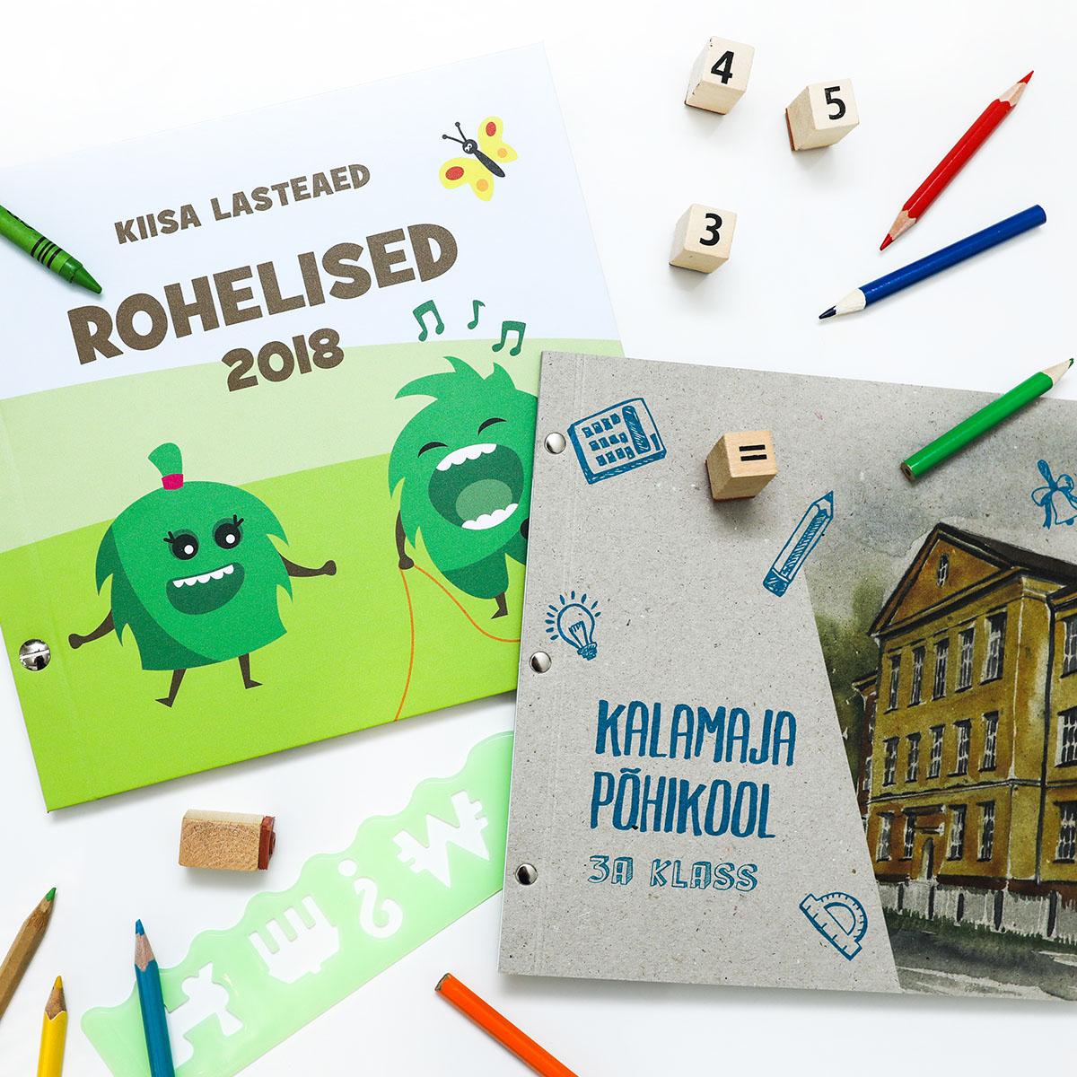 Lasteaia- ja klassilõpu raamatud Kiisa LA Roheliste rühmale ning Kalamaja Põhikooli 3a klassile.
